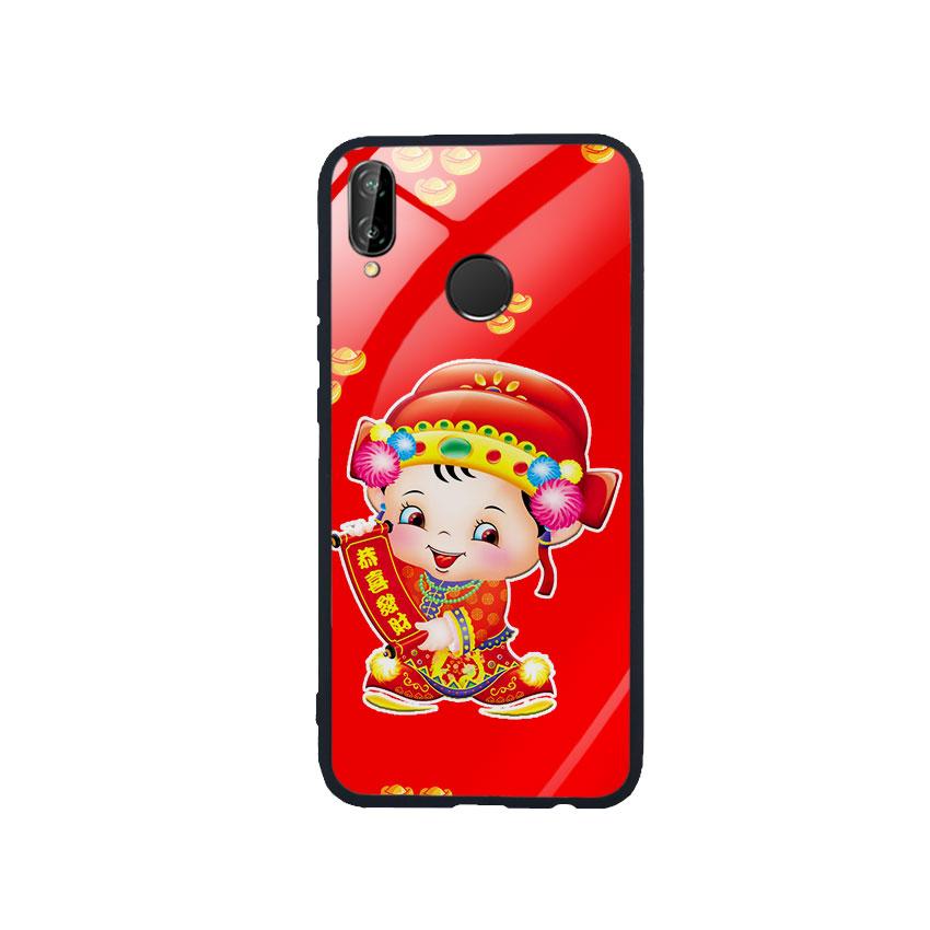Ốp Lưng Kính Cường Lực cho điện thoại Huawei Nova 3e - Thần Tài 05