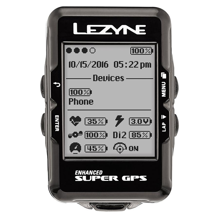 Đồng Hồ Đo Tốc Độ Lezyne Super GPS (Đen)