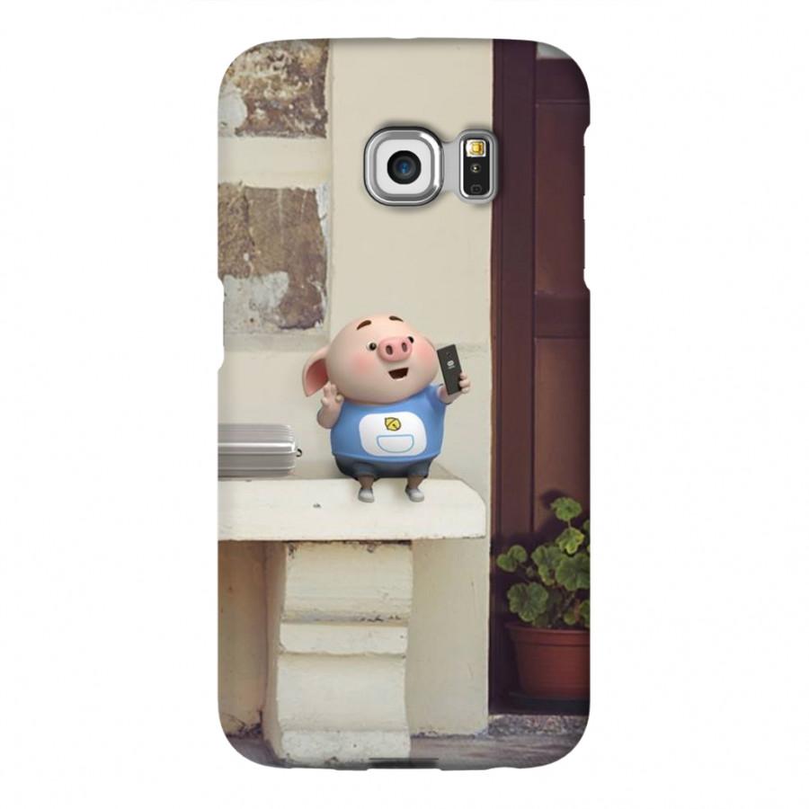 Ốp Lưng Cho Điện Thoại Samsung Galaxy S6 Edge - Mẫu heocon 49