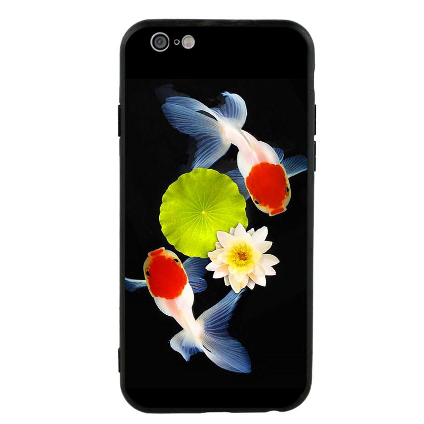 Ốp lưng viền TPU cho điện thoại Iphone 6/6s - Cá Koi 04