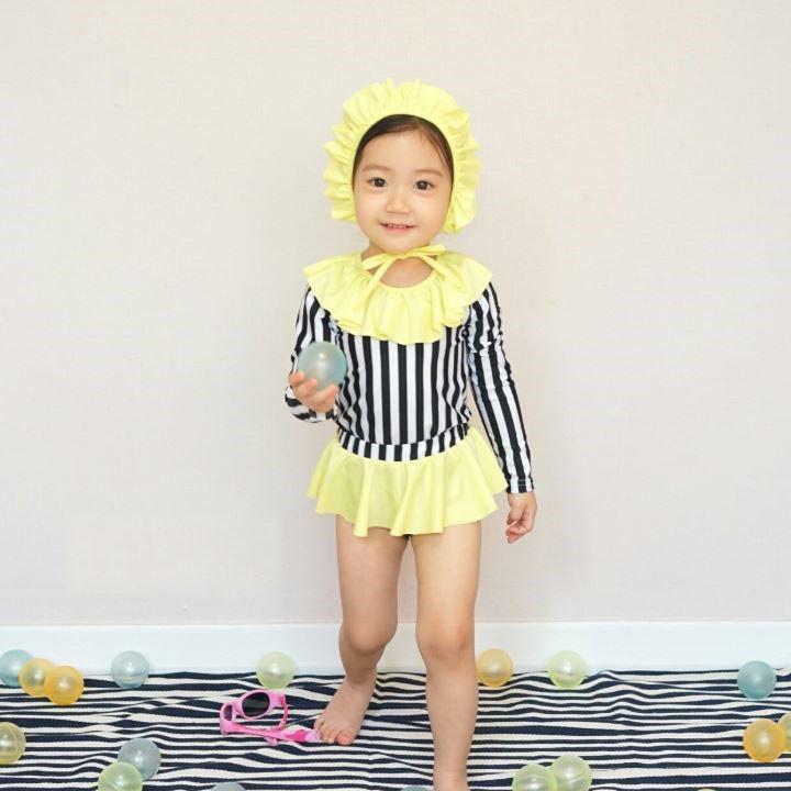 Set Đồ Bơi Kẻ Sọc Bé Gái Newkiz SW#1 - Quần Áo Trẻ Em Phong Cách Hàn Quốc