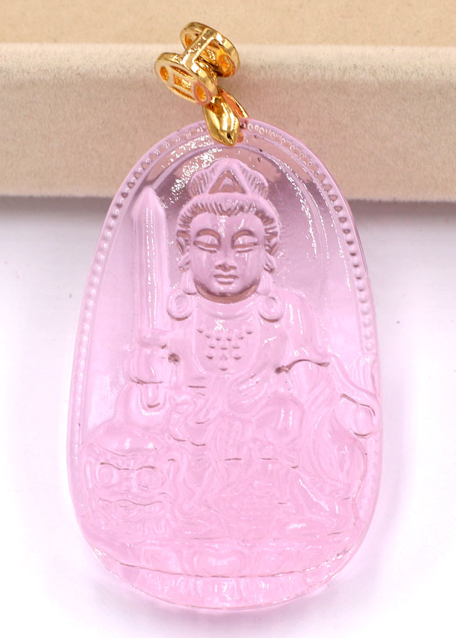Mặt dây chuyền Phật Văn Thù Bồ Tát pha lê hồng 5 cm - 757826 , 3384018205129 , 62_8090393 , 260000 , Mat-day-chuyen-Phat-Van-Thu-Bo-Tat-pha-le-hong-5-cm-62_8090393 , tiki.vn , Mặt dây chuyền Phật Văn Thù Bồ Tát pha lê hồng 5 cm
