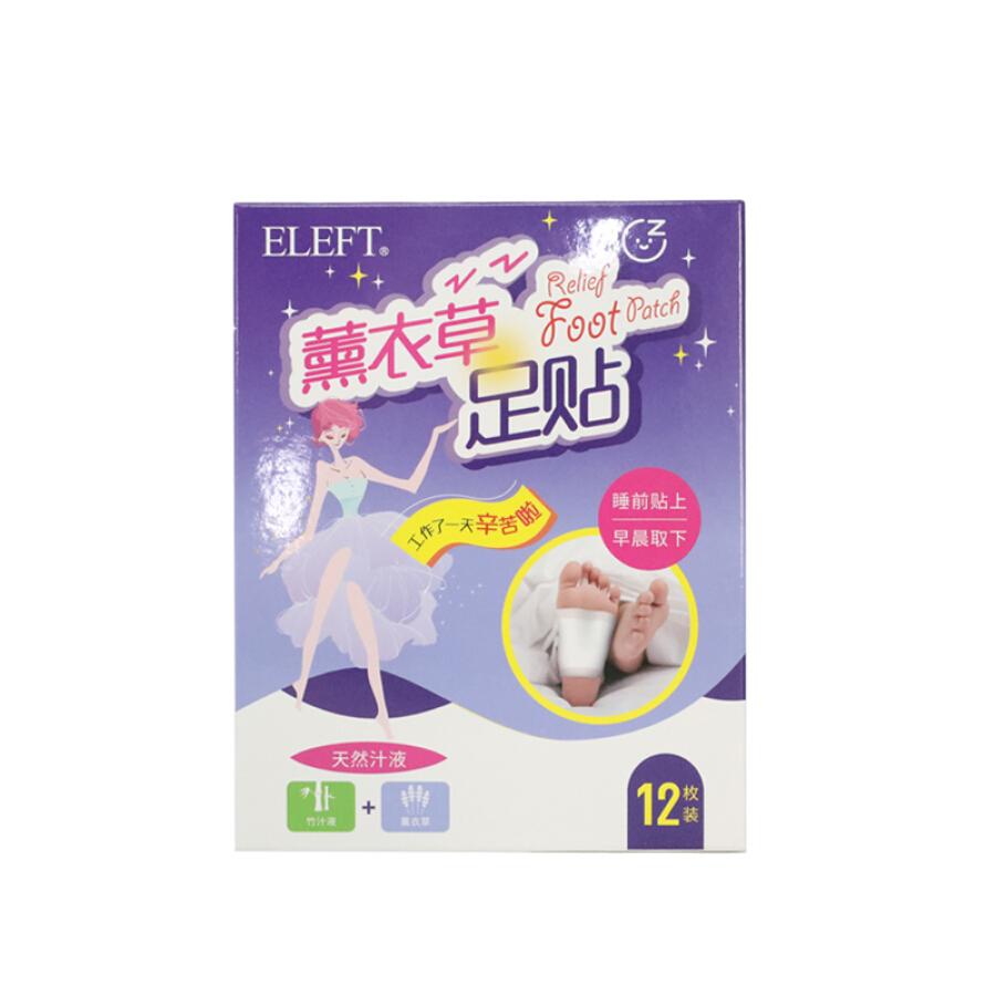Hộp Cao Dán Thải Độc Chân Hương Lavender ELEFT 108020 * 12 Miếng Dán