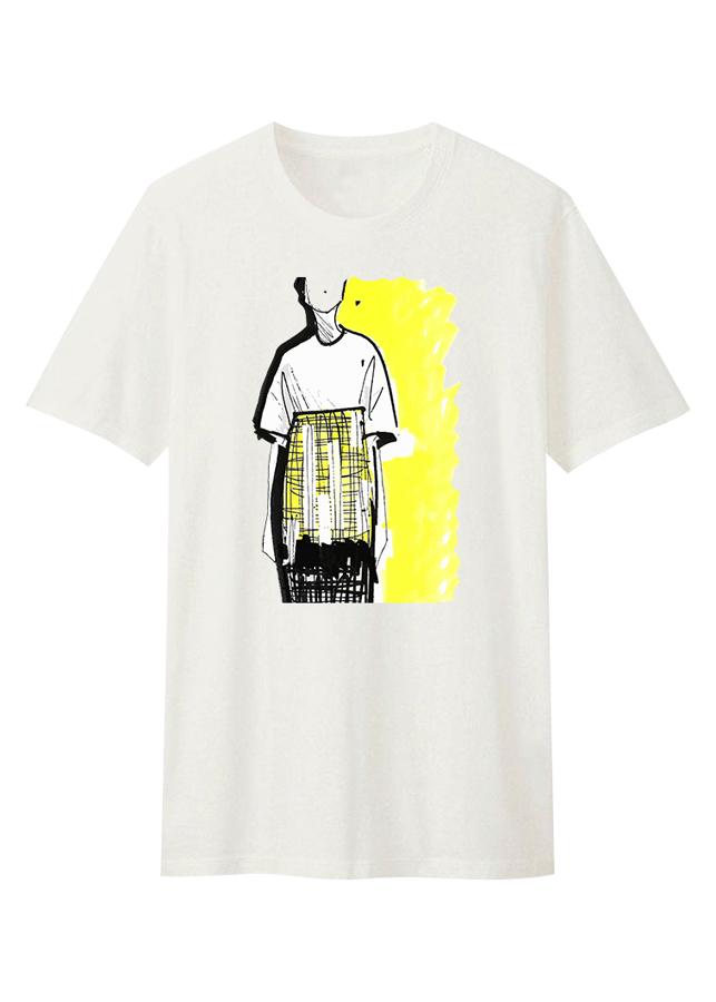 Áo T-Shirt Unisex Dotilo Sketched Girl - Hu089