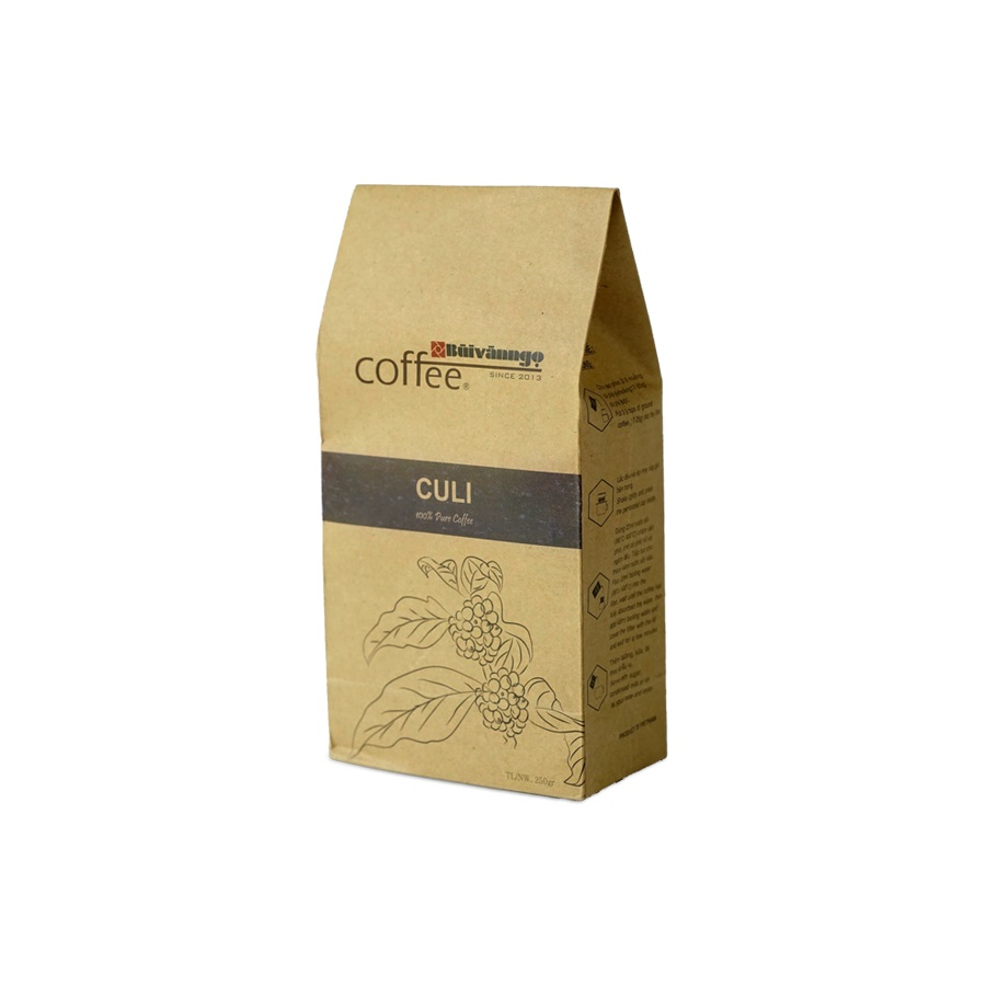 Cà phê rang xay CULI 250gram - Bùi Văn Ngọ Coffee