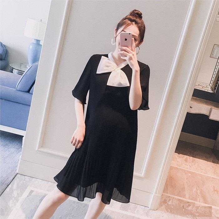 Đầm bầu đen xinh free size