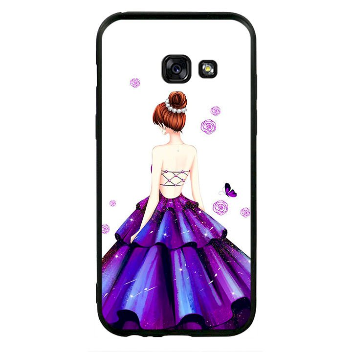 Ốp lưng viền TPU cho điện thoại Samsung Galaxy A3 2017 - Girl 06