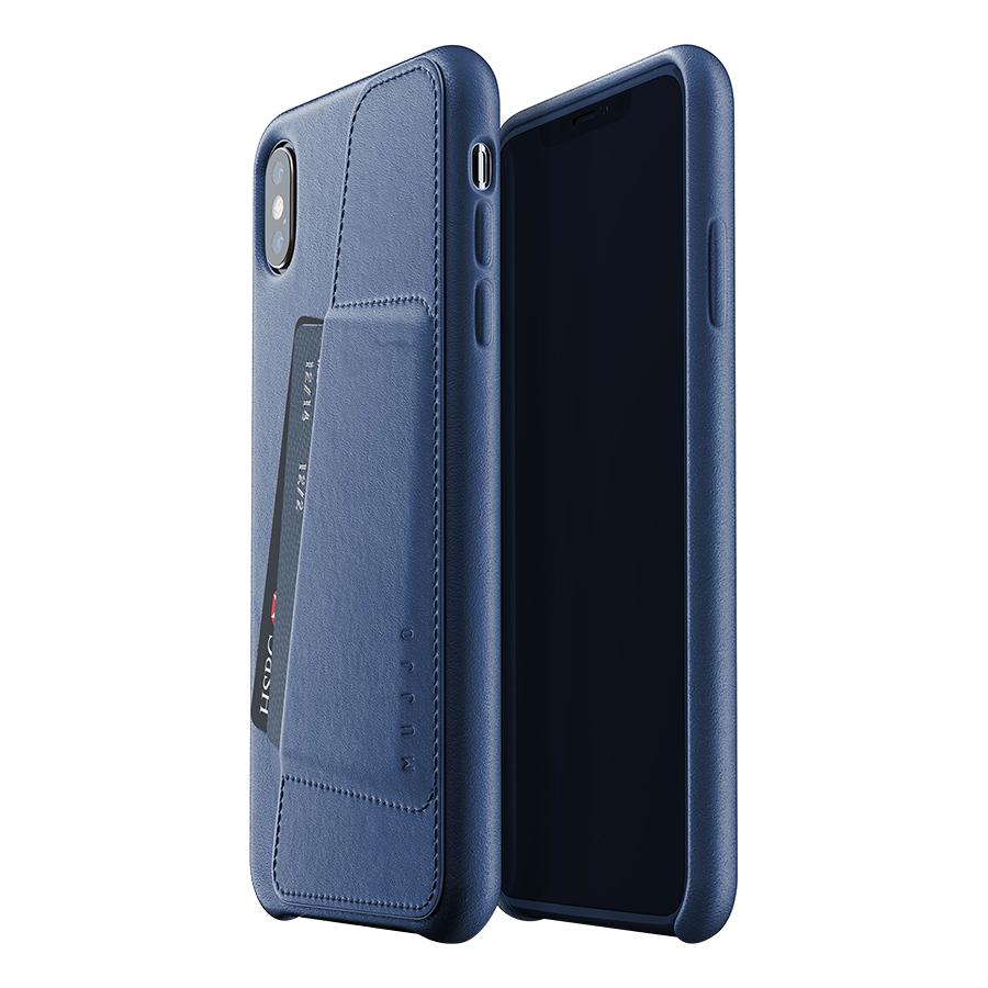Ốp Lưng Bằng Da Kèm Ví Dành Cho iPhone XS Max Mujjo