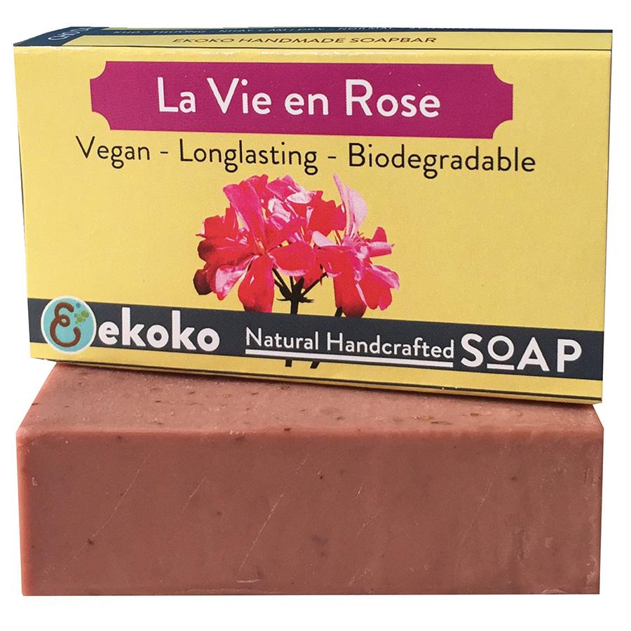 Xà bông thiên nhiên handmade Ekoko Lavie En Rose 100g