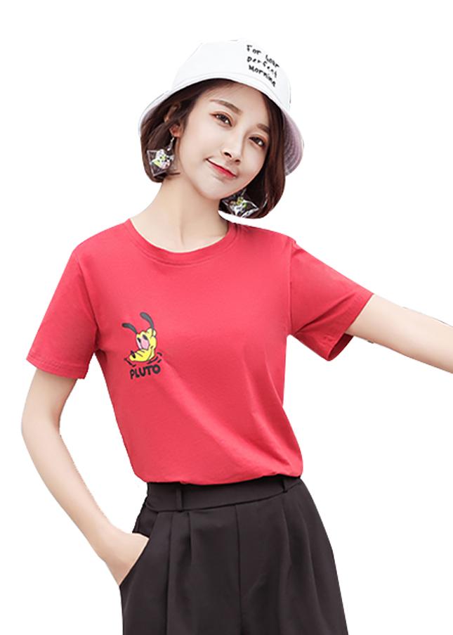 Áo thun nữ pluto màu đỏ d633 thương hiệu Td