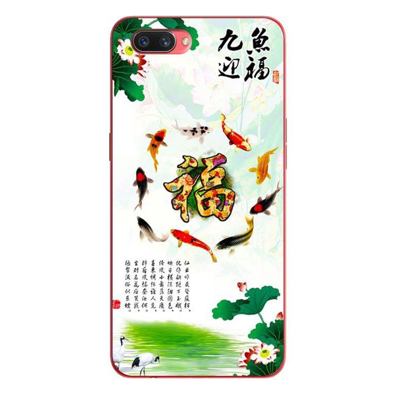 Ốp lưng dành cho điện thoại Oppo A3S/A5/realme C1 - Đàn Koi Vây Quanh