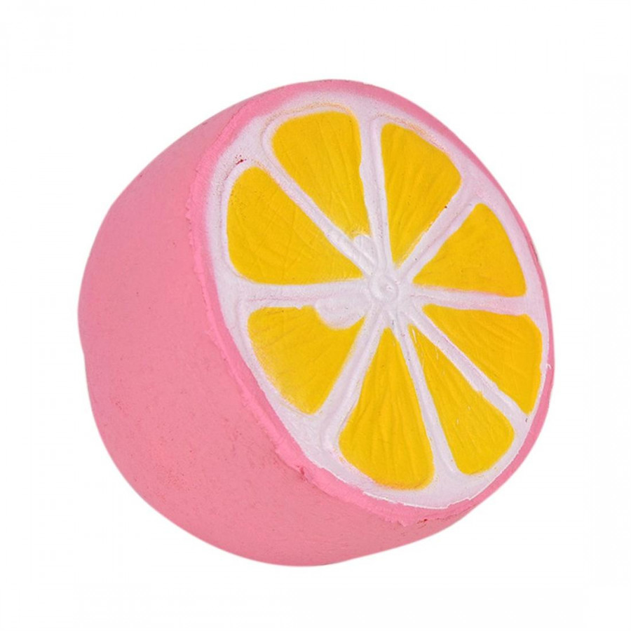 St Lemon Super Slow Increase Fruit Charm Squeeze Toy Phone With Pink Gift Pendant Extrusion Stress Toys