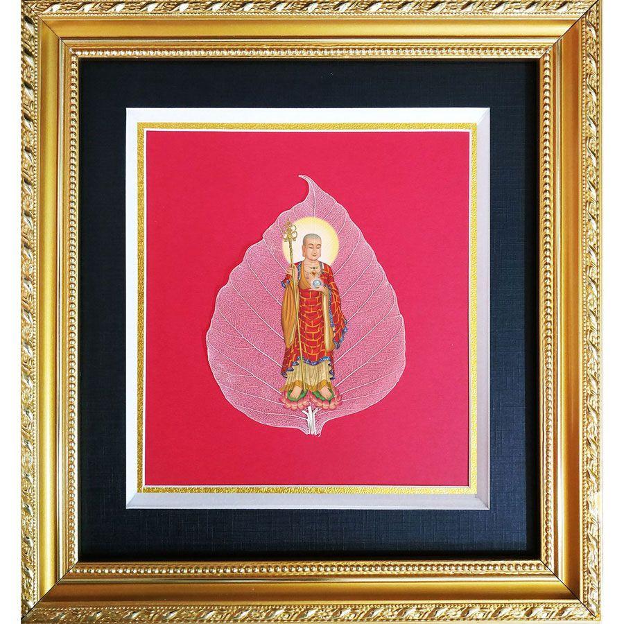 Tranh Phật Trên Lá Bồ Đề HPB-3091