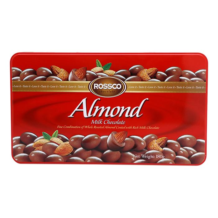 Kẹo Socola Sữa Almond Rossco (180g)