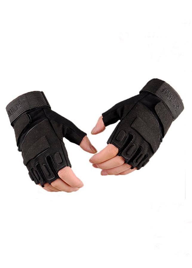 Găng tay lính mỹ, găng tay phượt hở ngón, tập gym, thể thao