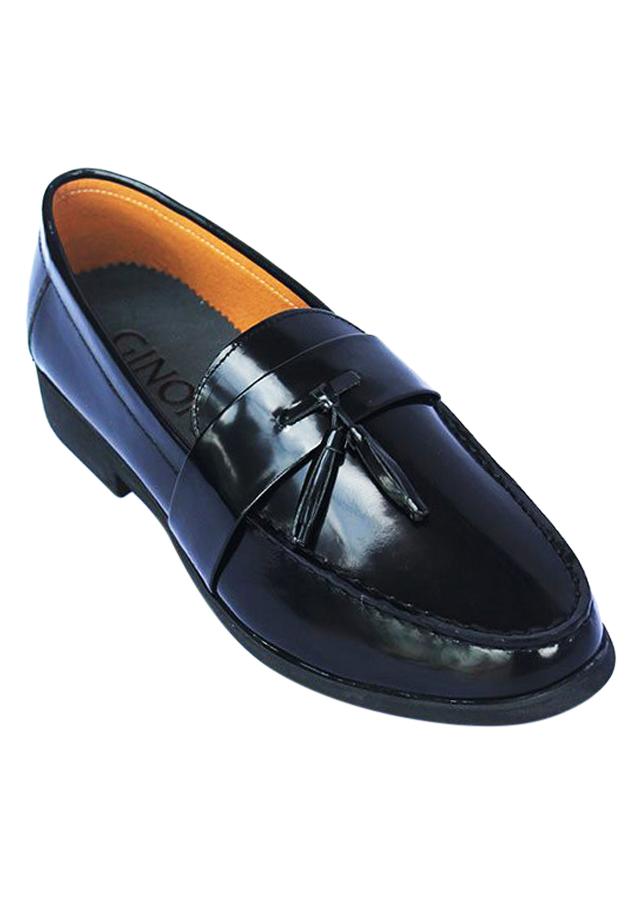 Giày Da Bò Nam MENUP Mã Men - 622 Đen Trơn
