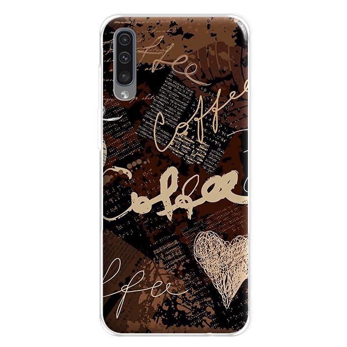 Ốp lưng dẻo cho điện thoại Samsung Galaxy A50 - 224 0073 COFFEE