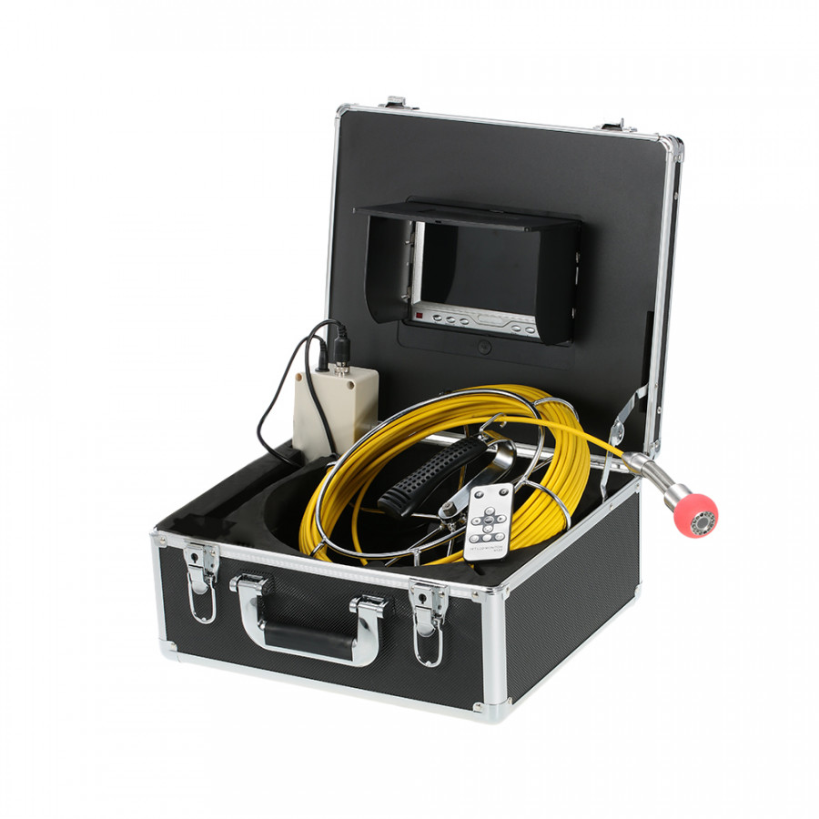 "7"" LCD Monitor 960TVL CCD Pipeline Inspection Camera Waterproof Drain Pipe Sewer Inspection Camera Industrial Endoscope"