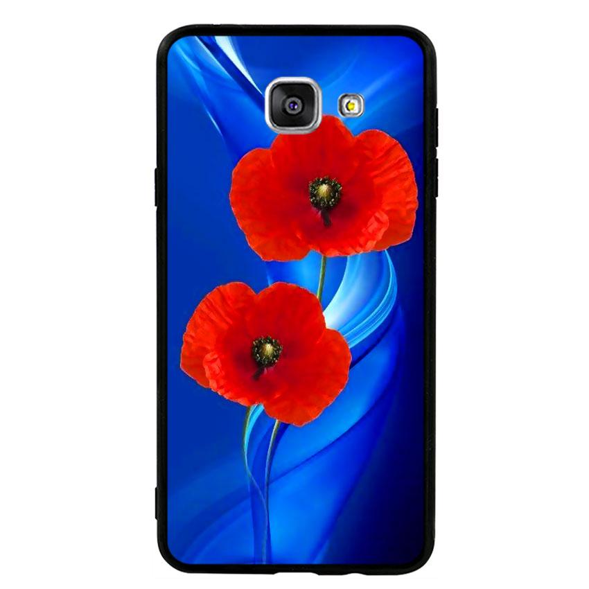 Ốp lưng nhựa cứng viền dẻo TPU cho điện thoại Samsung Galaxy A7 2016 - Anh Túc Hoa 02