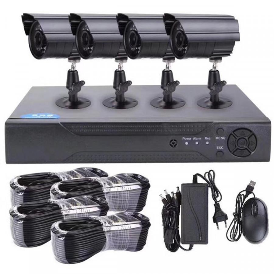 Bộ Camera Kiwivision AHD KIT , 4 mắt 2.0Mp + tặng kèm ổ cứng 500Gb