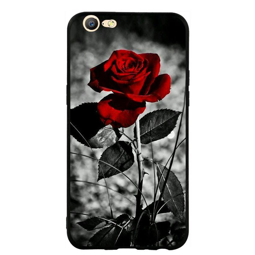 Ốp lưng viền TPU cho điện thoại Oppo F3 Lite (A57) -Rose 08
