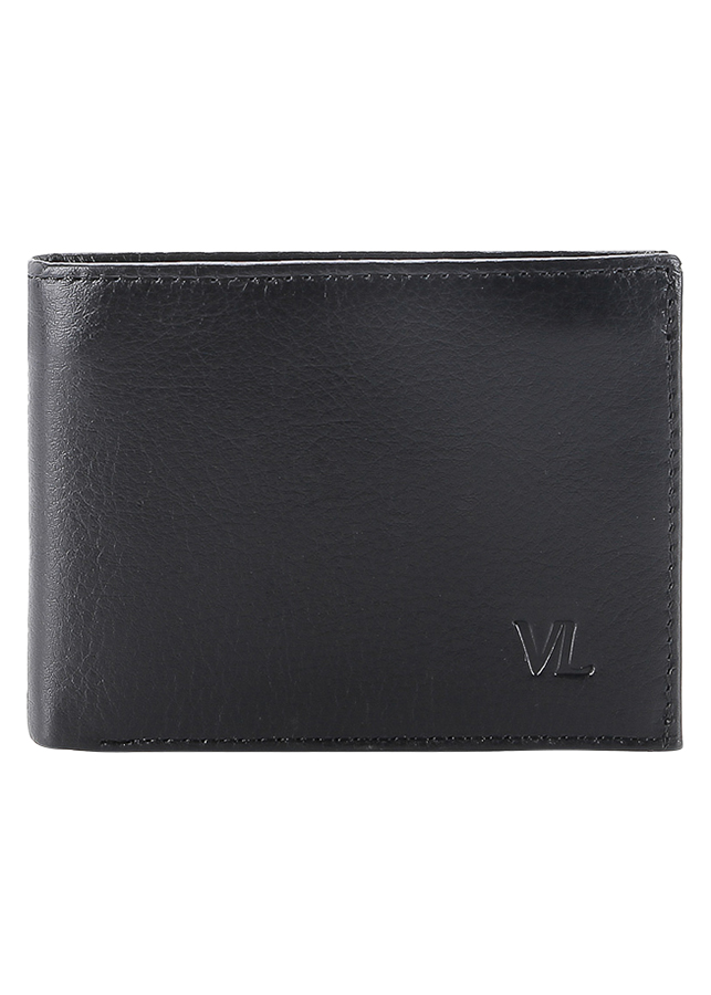 Ví Da Nam VL Leather VL0026 (12 x 10 cm) - Đen