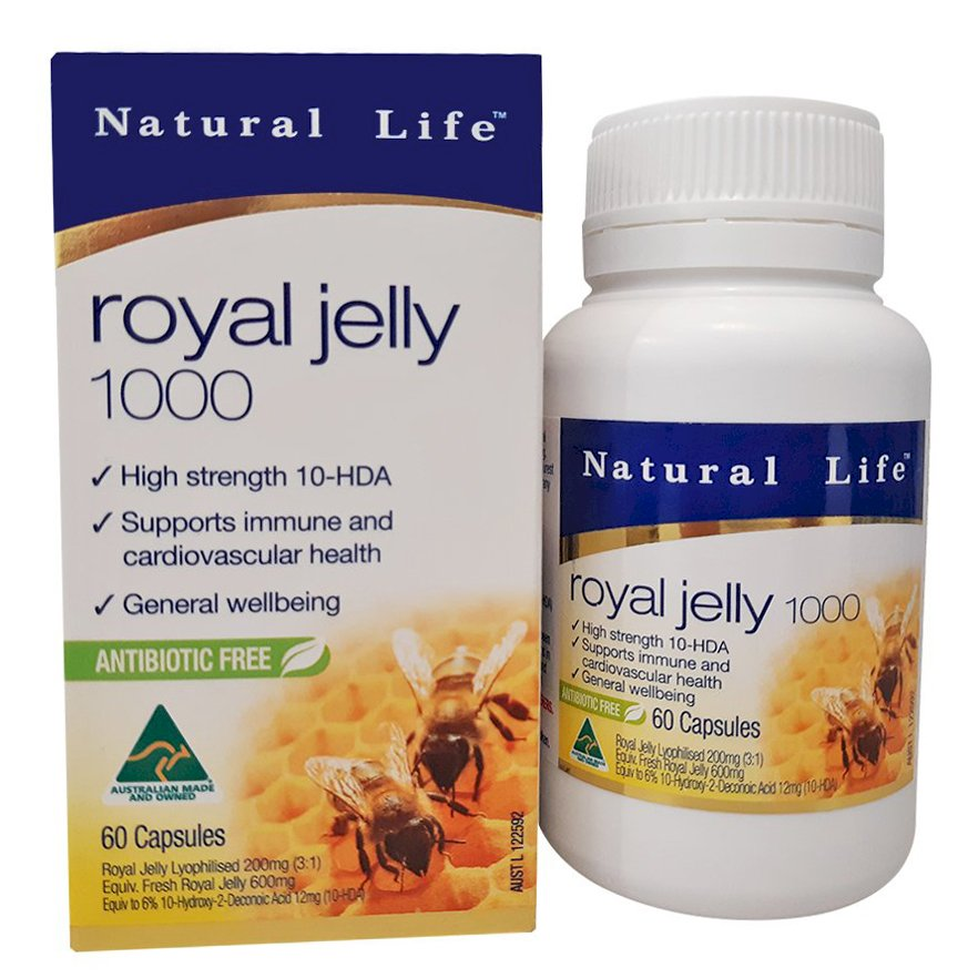 Thực phẩm chức năng Sữa Ong Chúa Natural Life Royal Jelly - Hộp 60 Viên - 1111681 , 9875217963056 , 62_4072863 , 494500 , Thuc-pham-chuc-nang-Sua-Ong-Chua-Natural-Life-Royal-Jelly-Hop-60-Vien-62_4072863 , tiki.vn , Thực phẩm chức năng Sữa Ong Chúa Natural Life Royal Jelly - Hộp 60 Viên