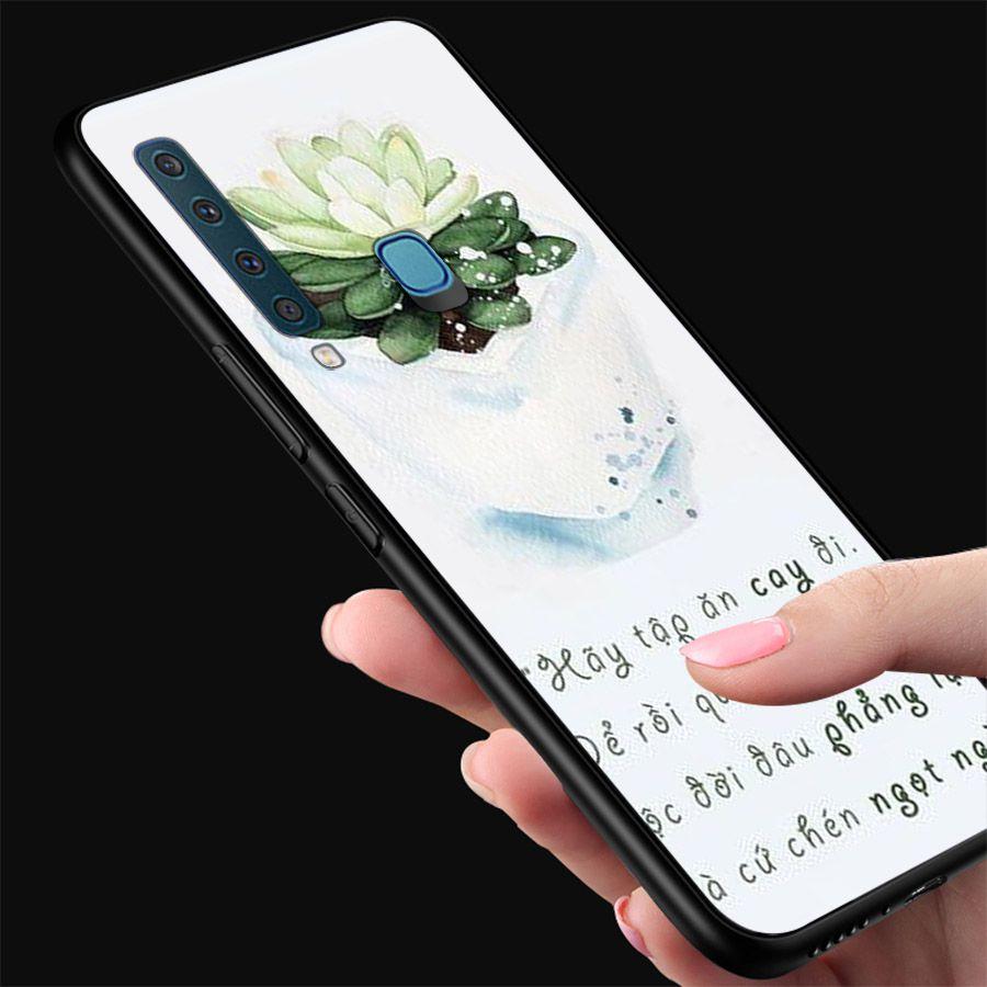 Ốp kính cường lực dành cho điện thoại Samsung Galaxy A9 2018/A9 Pro - M20 - lời trích tâm sự tâm trạng  - tam2023