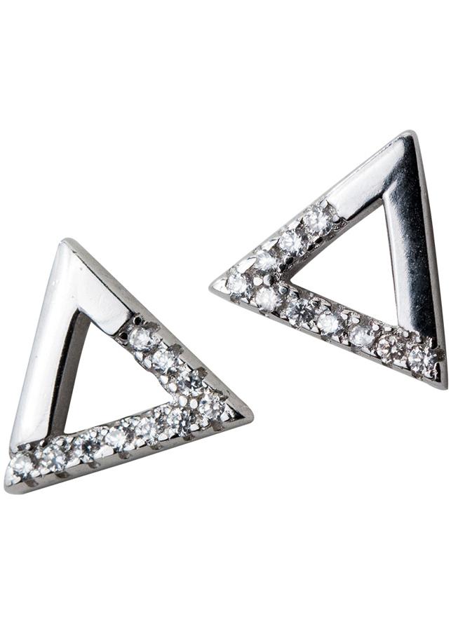 Khuyên tai tam giác đính đá lệch E6504