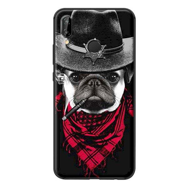 Ốp Lưng Dành Cho Huawei Nova 3E Chó Đội Nón