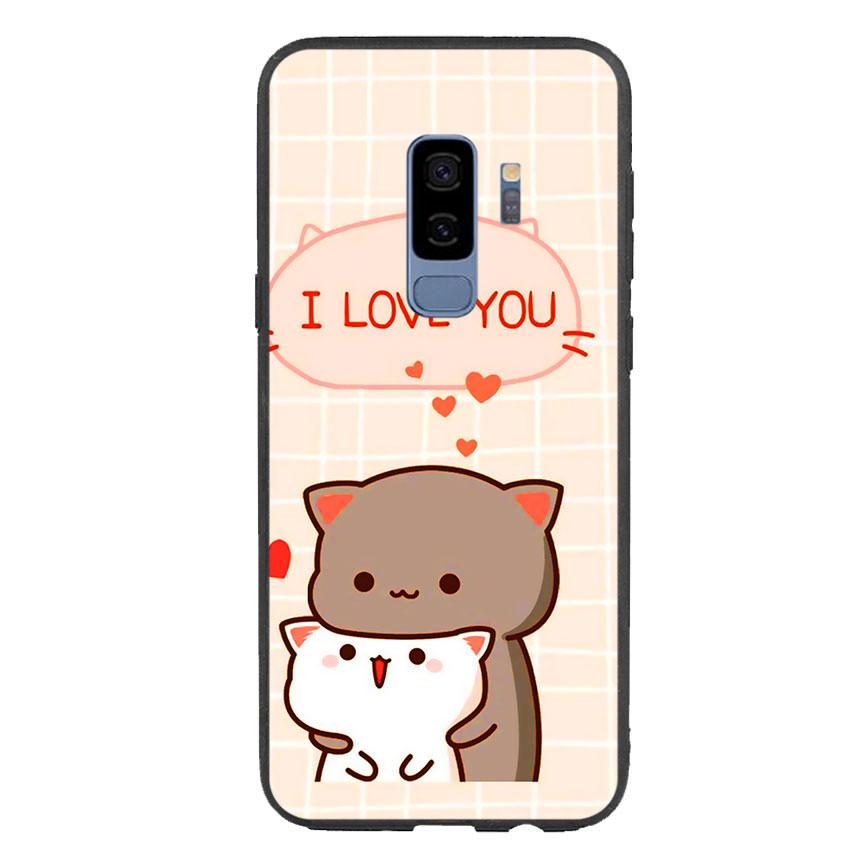 Ốp lưng viền TPU cho điện thoại Samsung Galaxy S9 Plus - I Love U