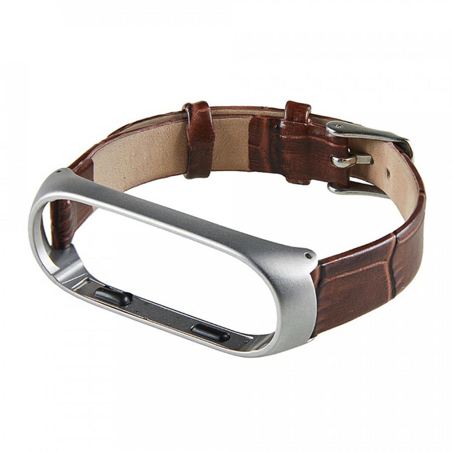 Leather Strap For Xiaomi Mi Band 3 Mi Smart Bracelet Screwless Wristbands Replace Wrist Strap