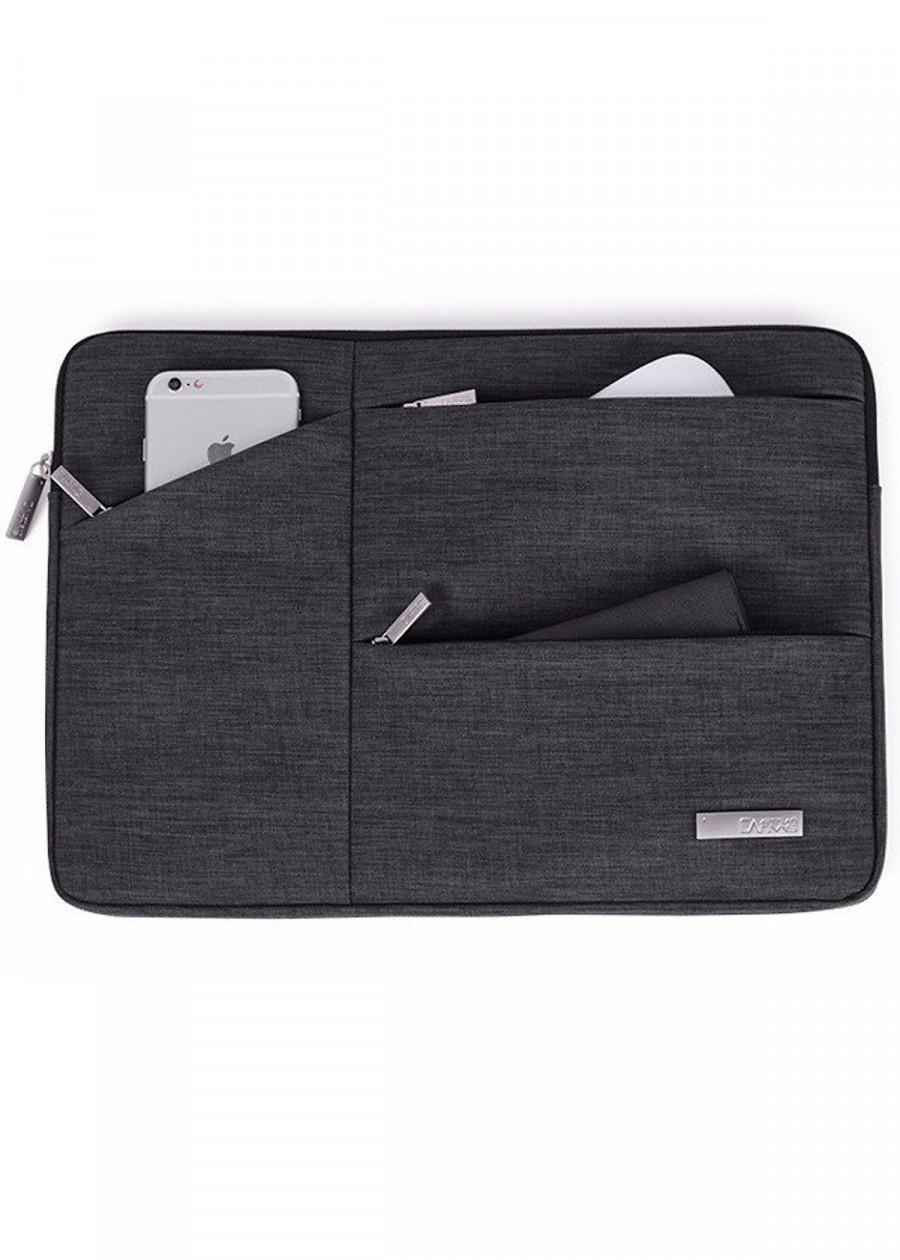 Túi chống sốc Cho Macbook và  Laptop Xpro - Màu Xám (Tặng bàn di chuột Razer)