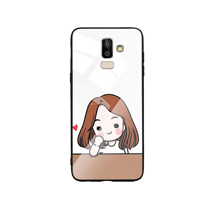 Ốp Lưng Kính Cường Lực cho điện thoại Samsung Galaxy J8 - Couple Girl 03