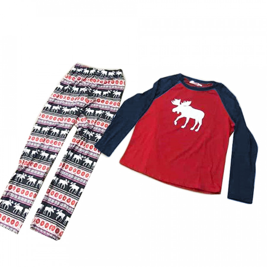 Home Dress Family Pajamas Comfortable Elk Pattern Cotton Polyester Lounge Long Sleeve - 8109227 , 6339057635250 , 62_16262892 , 553000 , Home-Dress-Family-Pajamas-Comfortable-Elk-Pattern-Cotton-Polyester-Lounge-Long-Sleeve-62_16262892 , tiki.vn , Home Dress Family Pajamas Comfortable Elk Pattern Cotton Polyester Lounge Long Sleeve