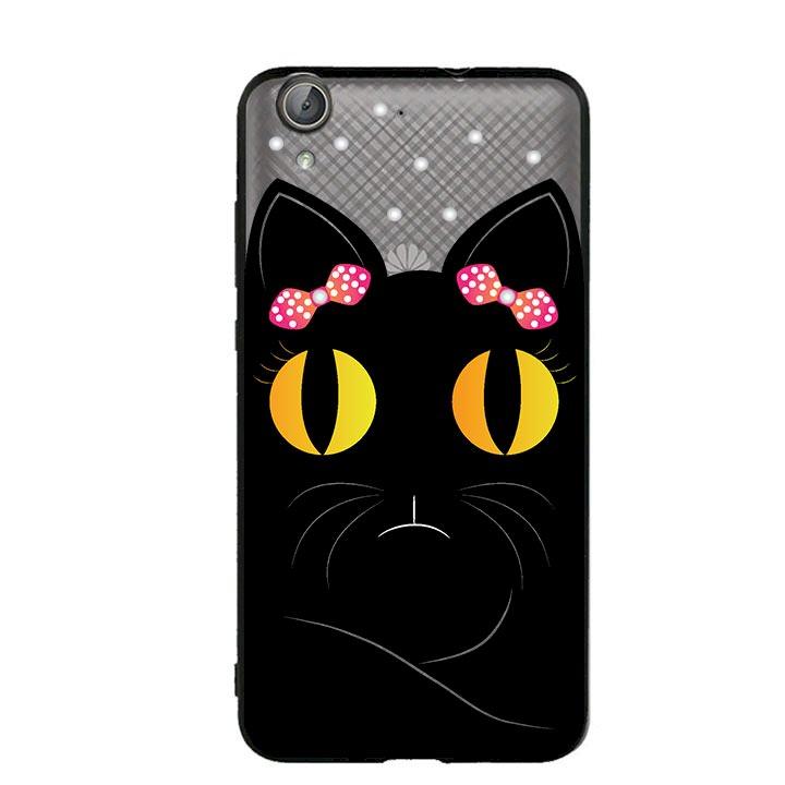 Ốp lưng viền TPU cho Huawei Y6 II - Mèo Mun 02