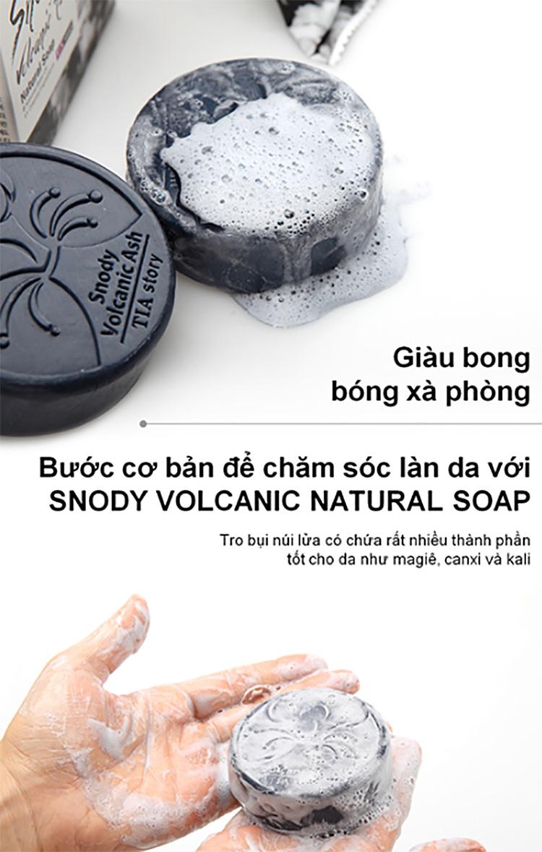 Snody Xà Bông Trị Mụn Cao Cấp Tro Núi Lửa - Snody Volcanic Ash (100g)