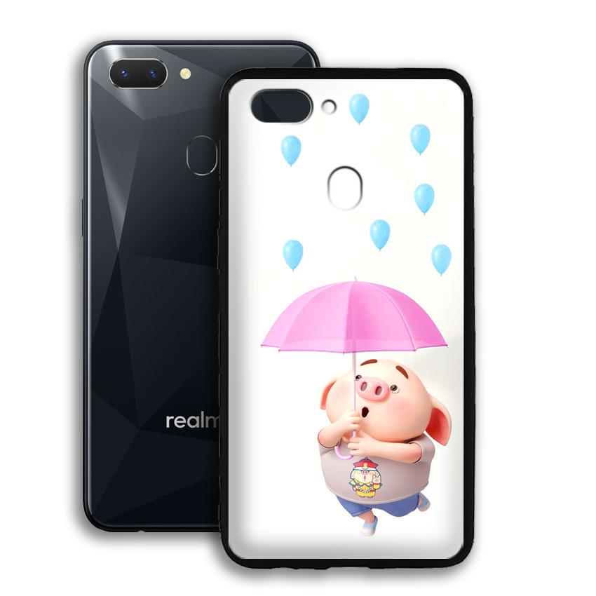 Ốp lưng viền TPU cho điện thoại Realme 2 - 02095 0523 PIG26 - Hàng Chính Hãng