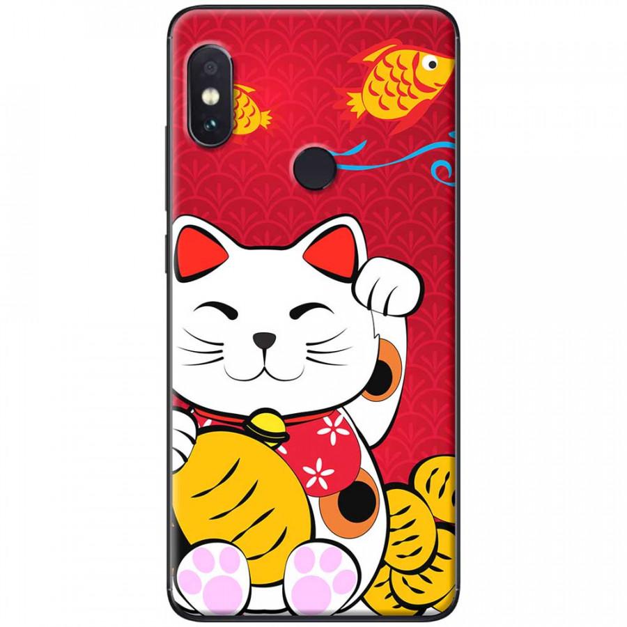 Ốp lưng dành cho Xiaomi Redmi Note 6 mẫu Mèo thần tài cá chép