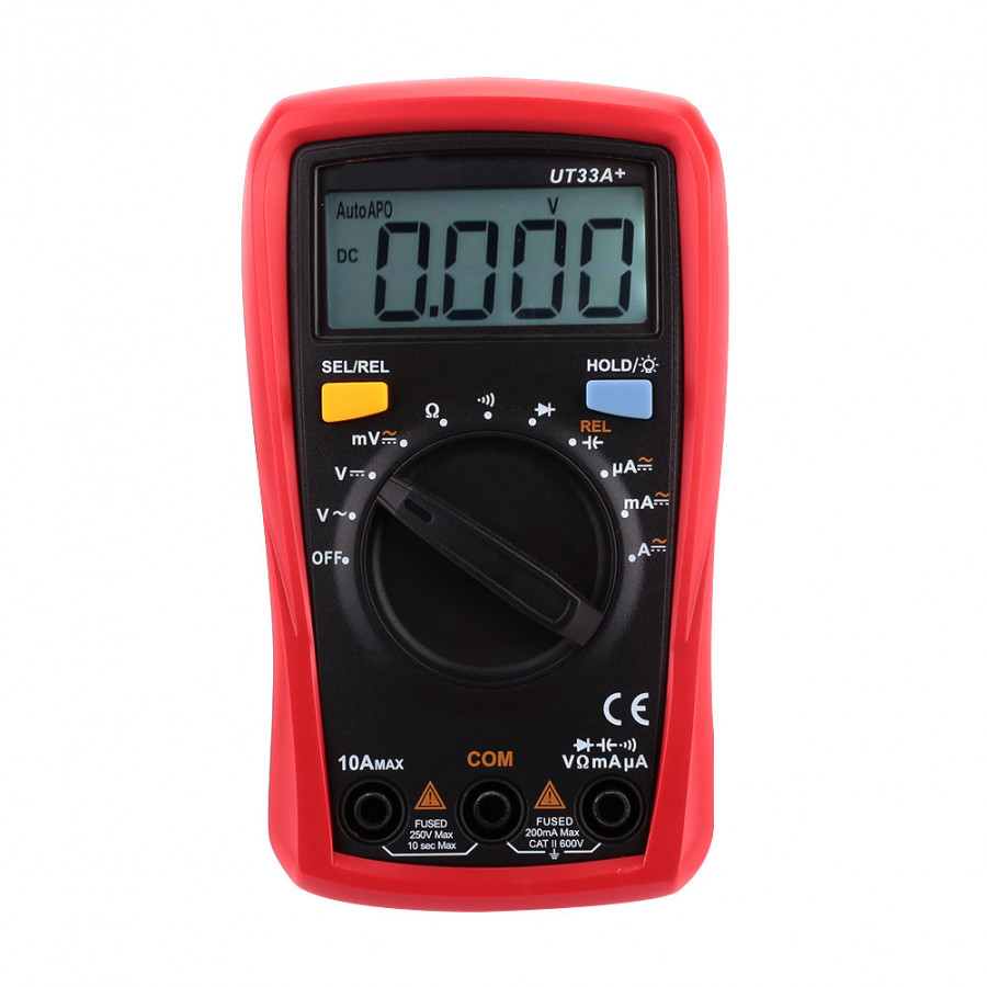 Multi Function Multimeter Digital Voltmeter Practical 2mF Red Black Test Kit