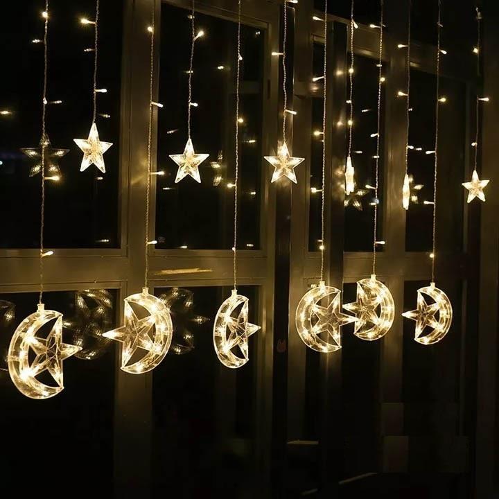 Bộ dây đèn trang trí noel trăng sao Thiên Mã màu vàng - 752334 , 6247369583896 , 62_7601090 , 299000 , Bo-day-den-trang-tri-noel-trang-sao-Thien-Ma-mau-vang-62_7601090 , tiki.vn , Bộ dây đèn trang trí noel trăng sao Thiên Mã màu vàng