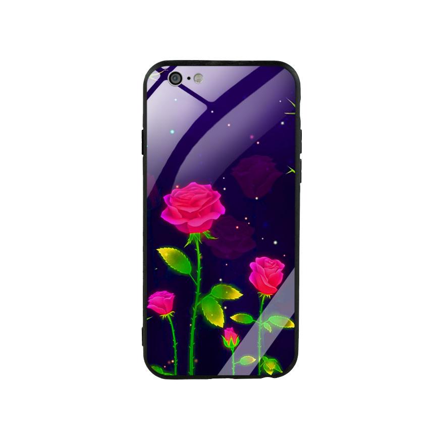 Ốp Lưng Kính Cường Lực cho điện thoại Iphone 6 / 6s - Rose 10