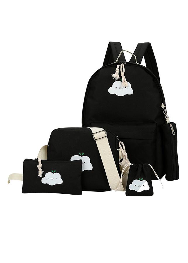 Bộ Balo Nữ Thời Trang 5 Món Họa Tiết Đám Mây Cloudy Botusi - KT14