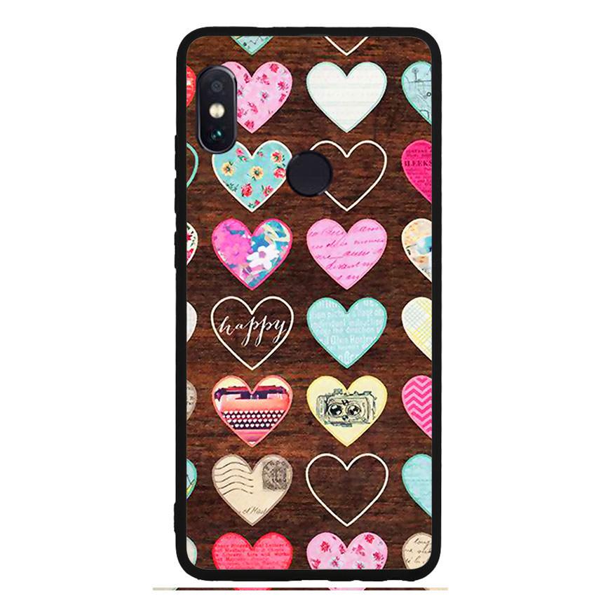 Ốp lưng viền TPU cho điện thoại Xiaomi Redmi Note 5 - Heart 08