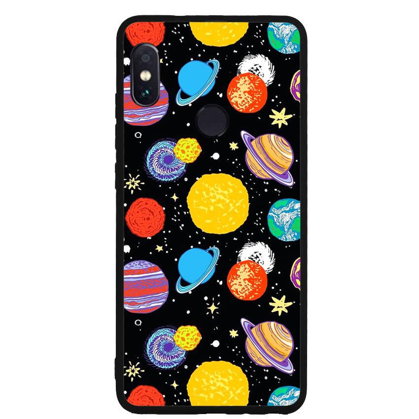 Ốp lưng nhựa cứng viền dẻo TPU cho điện thoại Xiaomi Redmi Note 5 - Galaxy 03