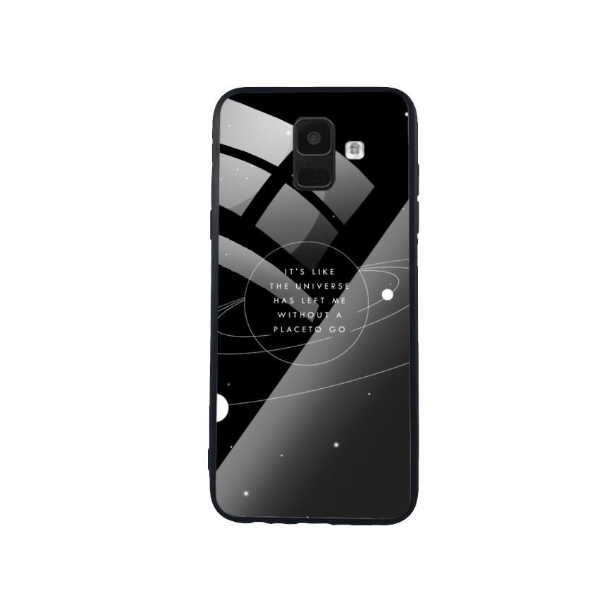 Ốp Lưng Kính Cường Lực cho điện thoại Samsung Galaxy A6 - Alone 02