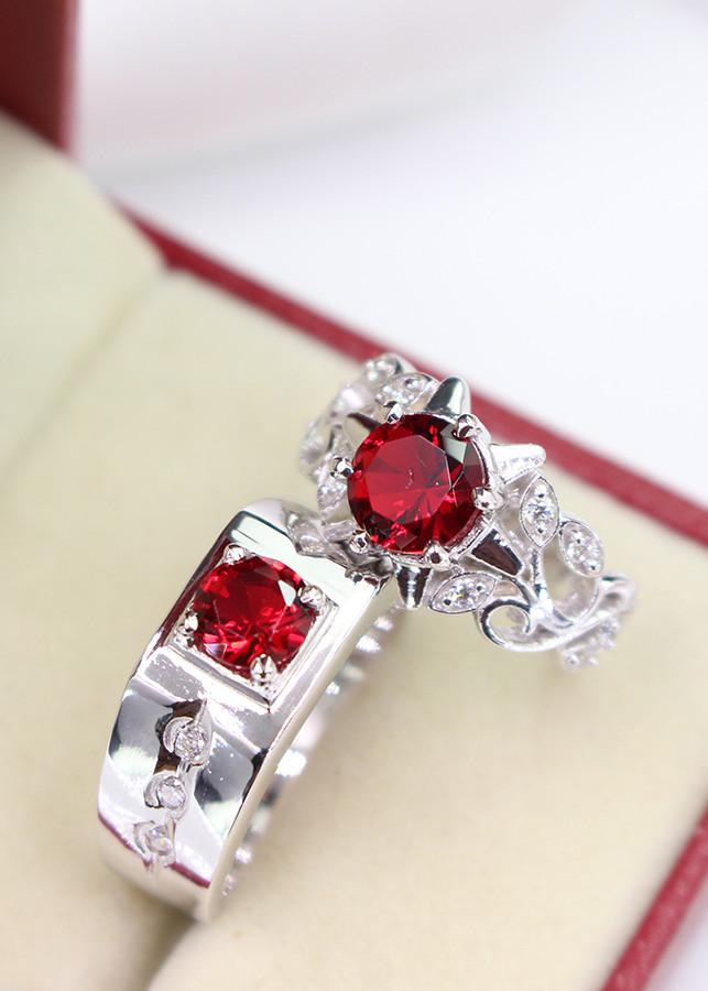 Nhẫn đôi bạc nhẫn cặp bạc đính đá đỏ ND0265 - 7096398 , 5244612269140 , 62_10383860 , 660000 , Nhan-doi-bac-nhan-cap-bac-dinh-da-do-ND0265-62_10383860 , tiki.vn , Nhẫn đôi bạc nhẫn cặp bạc đính đá đỏ ND0265