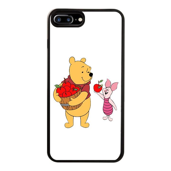 Ốp Lưng Kính Cường Lực Dành Cho Điện Thoại iPhone 7 Plus / 8 Plus Gấu Pooh Mẫu 4