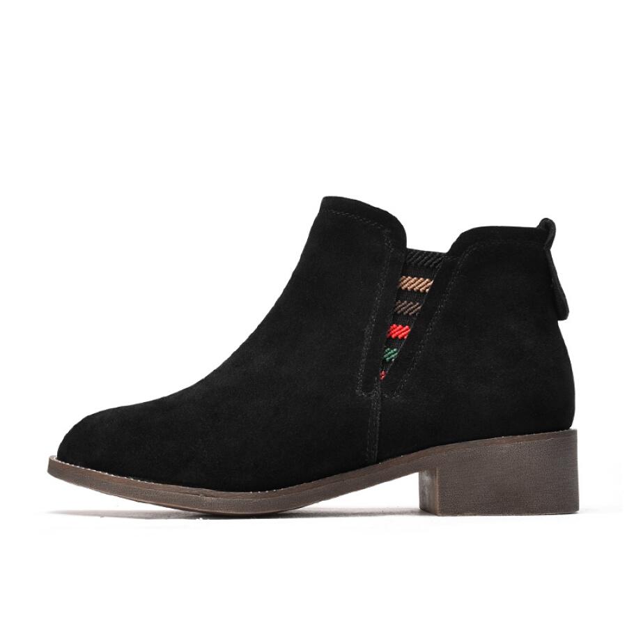 Giày Bốt Nữ Da Lộn FUGUINIAO G89E296F