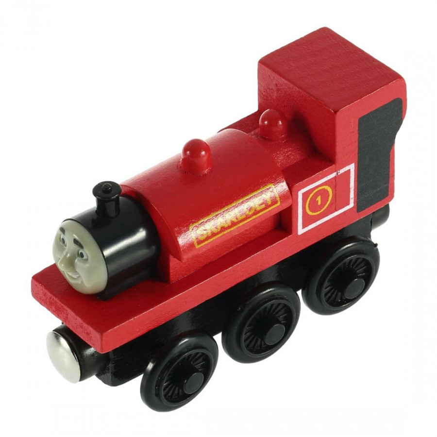 Small Locomotive Toy 3 Red Round 16